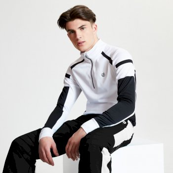 Polaire technique et design Homme MAXOUT (collection Black Label) Blanc