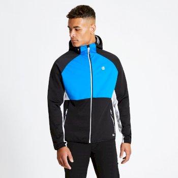 Veste Softshell Homme avec capuche ENDURE Bleu