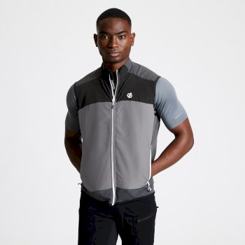 Men's Aptile Softshell Gilet Aluminium Ebony Grey