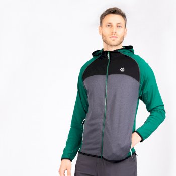 Men's Ratified II Full Zip Hooded Core Stretch Midlayer Ultramarine Green Ebony Grey