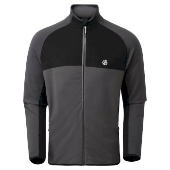 Men's Riform II Full Zip Core Stretch Midlayer Aluminium Ebony Grey