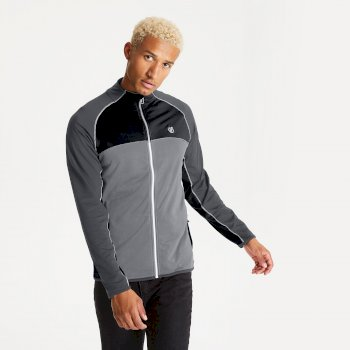 Men's Riform II Full Zip Core Stretch Midlayer Ebony Grey Black