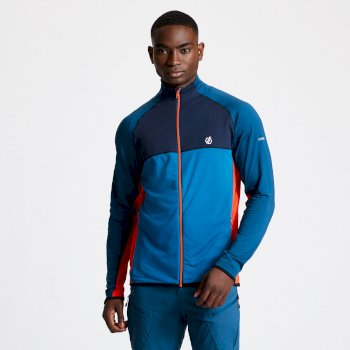 Men's Riform II Full Zip Core Stretch Midlayer Majolica Outerspace Blue