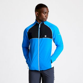Men's Riform II Full Zip Core Stretch Midlayer Athletic Blue Black White