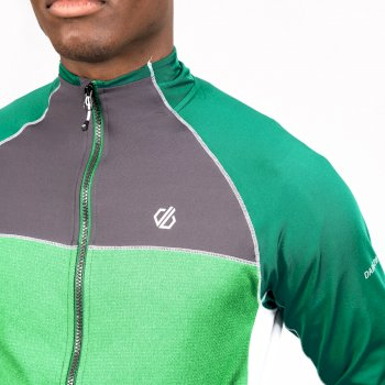 Men's Riform II Full Zip Core Stretch Midlayer Jelly Bean Green Ebony Grey