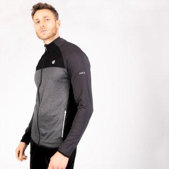 Men's Riform II Full Zip Core Stretch Midlayer Dark Storm Grey Black