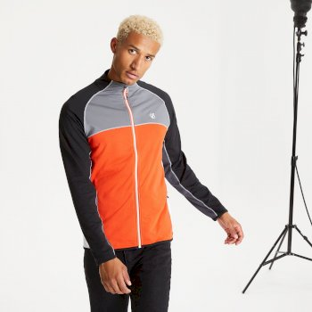Men's Riform II Full Zip Core Stretch Midlayer Trail Blaze Black Aluminium