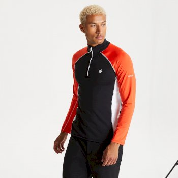 Men's Interfused II Half Zip Lightweight Core Stretch Midlayer Black Trail Blaze