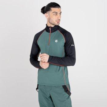 Men's Interfused II Lightweight Core Stretch Midlayer Fern Green Black