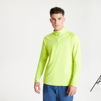 Men's Fuse Up II Half Zip Lightweight Core Stretch Midlayer Lime Punch