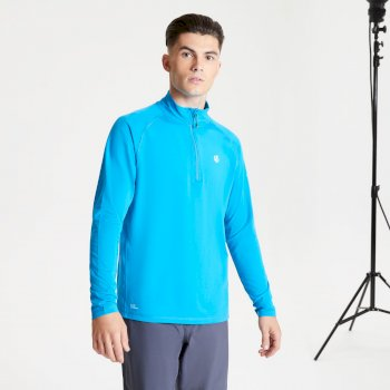 Men's Fuse Up II Half Zip Lightweight Core Stretch Midlayer Methyl Blue