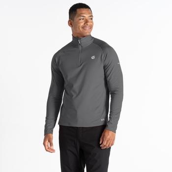 Men's Fuse Up II Half Zip Lightweight Core Stretch Midlayer Ebony Grey