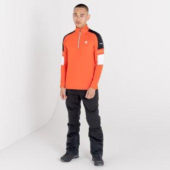 Couche intermédiaire core stretch zippée à moitié Homme OUTSTAND Orange