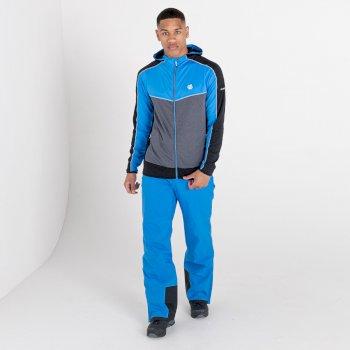 Men's Revived Hooded Core Stretch Midlayer Athletic Blue Ebony Grey Black