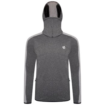 Men's Guard Up Hooded Core Stretch Midlayer  Charcoal Grey Ash Grey