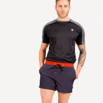 The Jenson Button Edit - Cascade Lightweight Shorts Ebony Grey Trail Blaze Red