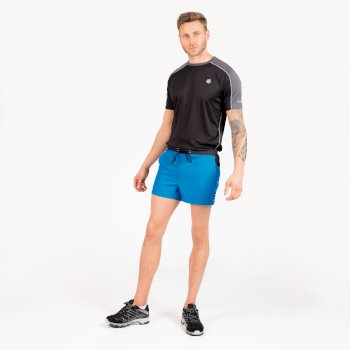 The Jenson Button Edit - Cascade Lightweight Shorts Petrol Blue Ebony Grey