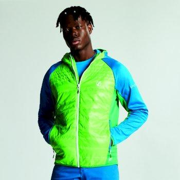 Veste isolée en laine hybride MOUNTFUSION pour homme Jasmine Green Petrol Blue