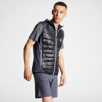 Men's Mountfusion Wool Insulated Vest Black Quarry Grey