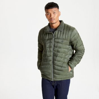 The Jenson Button Edit - Diversion Quilted Insulated Jacket Deep Depths Khaki