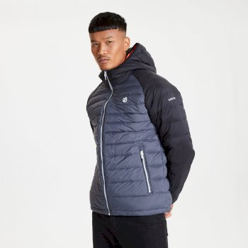 Men's Intuative II Down Fill Quilted Jacket Ebony Grey Black