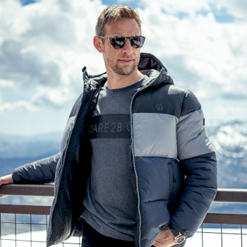 The Jenson Button Edit - Wing It Lightweight Padded Jacket Black Storm Grey