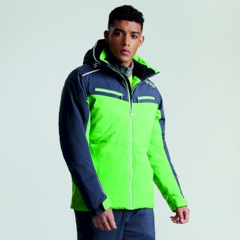 Men's Mutate Pro Ski Jacket Fairway Green Ebony Grey