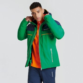 Men's Rendor Ski Jacket Highland Green Outerspace Blue