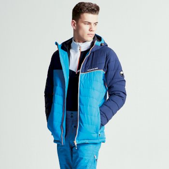 Men's Slalom Ski Jacket Methyl Blue Outerspace Blue