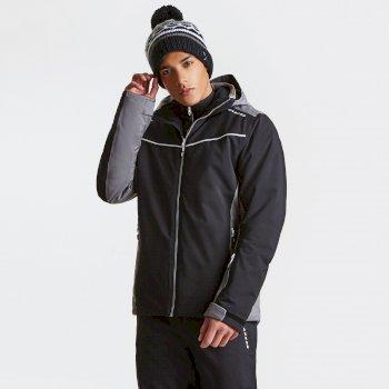 Men's Vigour Ski Jacket Black Asteroid Grey
