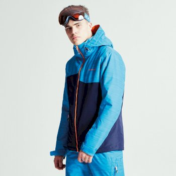 Men's Declarate Ski Jacket Outerspace Blue Methyl Blue Texture