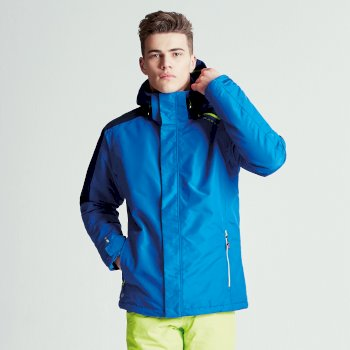 Men's Aligned Ski Jacket Nautical Blue Outerspace Blue