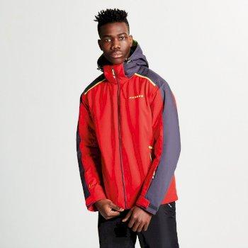 Men's Educe Ski Jacket Code Red Ebony Grey