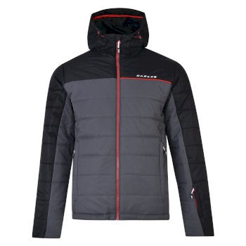 Men s Forceful Ski Jacket Black Ebony Grey ac80ba56b