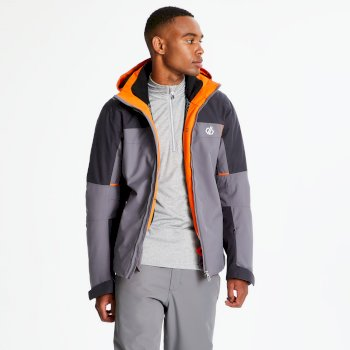 Men's Glaciate Ski Jacket Aluminium Grey Ebony