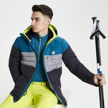 Veste de ski technique matelassée Homme CONNATE Gris