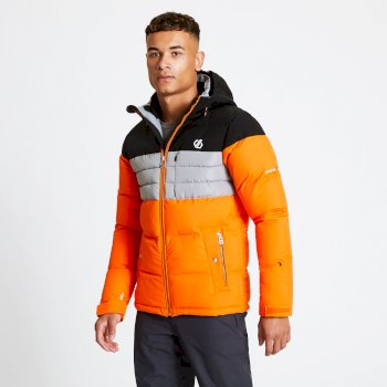 Veste de ski technique matelassée Homme CONNATE Orange