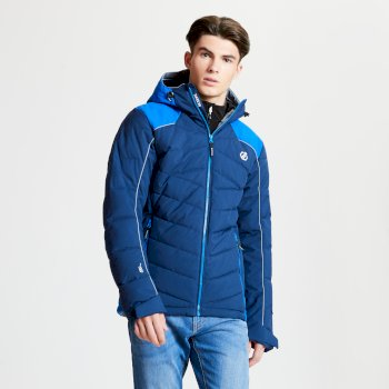 Men's Maxim Quilted Ski Jacket Admiral Oxford Blue
