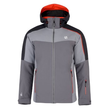 Men's Intermit Ski Jacket Aluminium Cloudy Grey