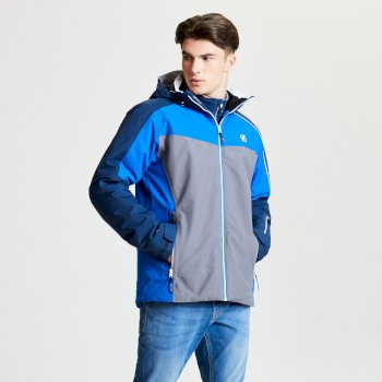 Men's Intermit Ski Jacket Admiral Blue Aluminium Grey