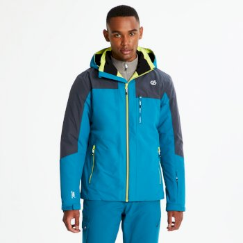Men's No Limits Ski Jacket Ocean Depths Ebony