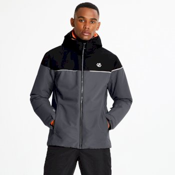 Men's Cohere Ski Jacket Ebony Black