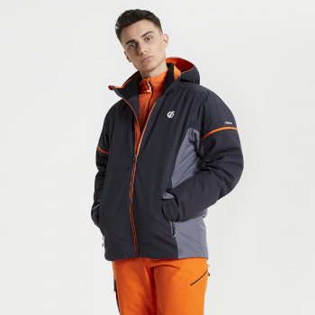 Men's Yield Ski Jacket Ebony Aluminium Grey