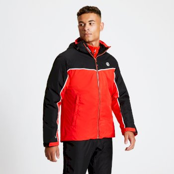 Men's Expanse Ski Jacket Black Fiery Red
