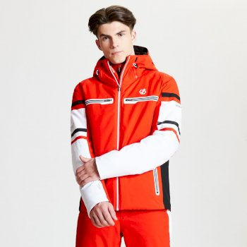 Men's Outshout Black Label Ski Jacket Fiery Red