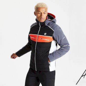 Veste de ski à capuche Homme imperméable et isolante CIPHER Noir