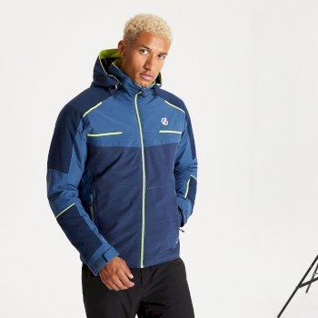 Veste de ski à capuche Homme imperméable et isolante BELOW ZERO Bleu