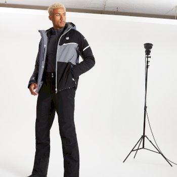 Veste de ski à capuche Homme imperméable et isolante SUPERCELL Noir