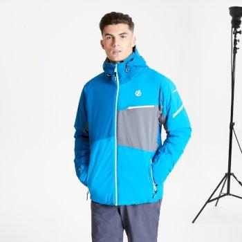 Veste de ski à capuche Homme imperméable et isolante SUPERCELL Bleu