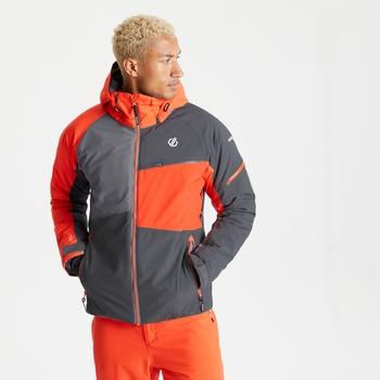 Veste de ski à capuche Homme imperméable et isolante SUPERCELL Gris